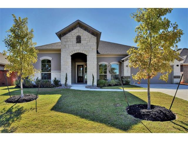 "This home is a 3,013 sq. ft. 1-story plan with 4 bedrooms, 3 baths, study, formal dining and flex room.  Very open floor plan with large family room which opens to great outdoor living area thru 4-panel slider door. Master bedroom includes a bow bay window and a luxury master spa bath. Home comes with wood and tile flooring throughout, stainless steel appliances, 42"" cabinets and beautiful granite countertops."