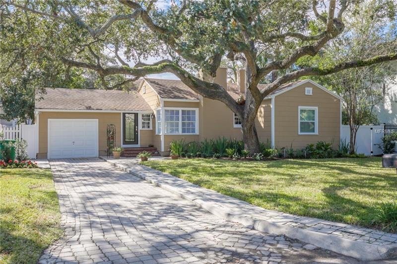 You are going to fall in love with this move-in ready South Tampa home! It features a large bright family/multi-purpose room and, at this price, a rare 4 bedroom with an additional office. This home maintains the charm of the original era including built ins, crown molding/trim, window seat and original hardwood floors. The current owners have invested in upgrades and upkeep including a new roof (~2009), new a/c unit (2017), plantation shutters, tankless water heater (2016), new fencing, new irrigation system in the front yard (2017), new electrical box and interior/exterior paint (2017).  The home includes a large, custom built shed for additional storage and shaded lot with mature trees.  The home is conveniently to the Westshore District and downtown. Don't wait! Begin your Paradise Life today!