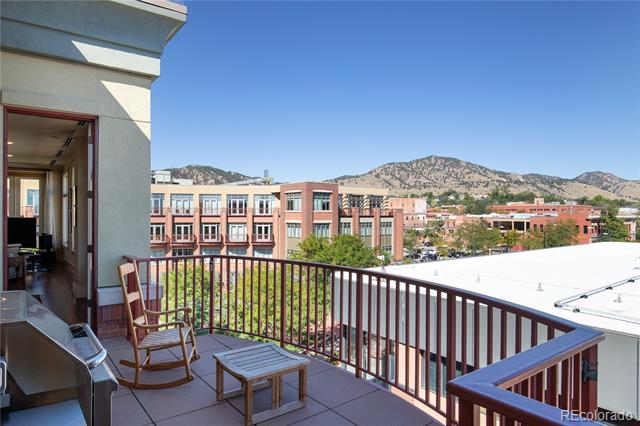 """Stunning corner penthouse has panoramic Foothill views along w/ inspiring architecture nearby & located in the heart of downtown Boulder. Perfect open living space for relaxing & entertaining. Top of the line craftsmanship w/private & secured access gives the sensation of being in a """"Boutique Hotel"""". Unit is very quiet/peaceful w/no shared neighboring walls & on top floor. Chefs kitchen & 5-piece master suite. Ample storage in laundry room, oversized closets, storage locker, & 3 parking spots."""