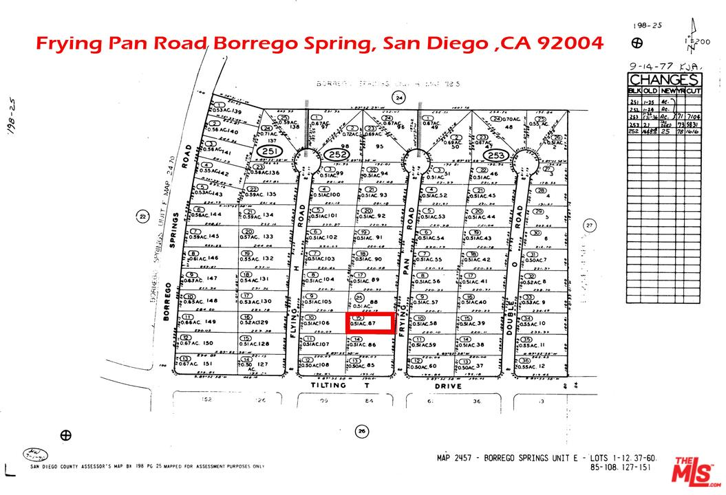 0 FRYING PAN Road, Borrego Springs, CA 92004