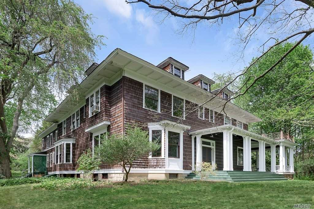 Magnificent 27.63 Acre Private Estate. Classic 1907 Manor With 8 Majestic Wood-Burning Fireplaces And Soaring Ceilings. Fine Woods And Extraordinary Original Details Throughout. Separate Guest Wing/Staff Quarters. Massive Walk-Up Attic. Classic Wrap-Around Porch. Ideal Location. Currently Two Separate Tax Lots; Further Subdivision Possible.