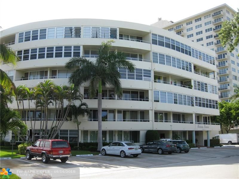 South Beach Style Meets Las Olas! Stop your search here! Totally updated & spotless 1 Bedroom / 1 Bath unit at Riviera Towers on the sought-after east Las Olas Isles of Ft Lauderdale. This well maintained Bauhaus/Mid-Century designed bldg is a jewel & delight to see. The owner of this unit has spared no expense in lovingly upgrading this light, bright & white ground floor residence with a S.E. exposure overlooking the water & garden. Some of the upgrades include all hurricane impact windows & doors, high-end stainless steel appliances, custom cabinetry, Silestone counter tops, tile flooring throughout and brand new mini-split central a/c system. Have the feeling of living in a home yet being in a charming low-rise bldg surrounding by multi-million dollar homes. Priced to sell & a must see!
