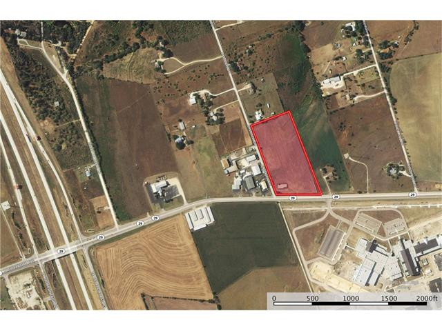 Approximately 9.432 acres at the NE corner of the intersection of University/SH 29 E and Eastview Drive just as 29 widens and across from Eastview High School - Included in the Georgetown ETJ - Entire property is viewable from 29 and Eastview - Must contact agent to walk property