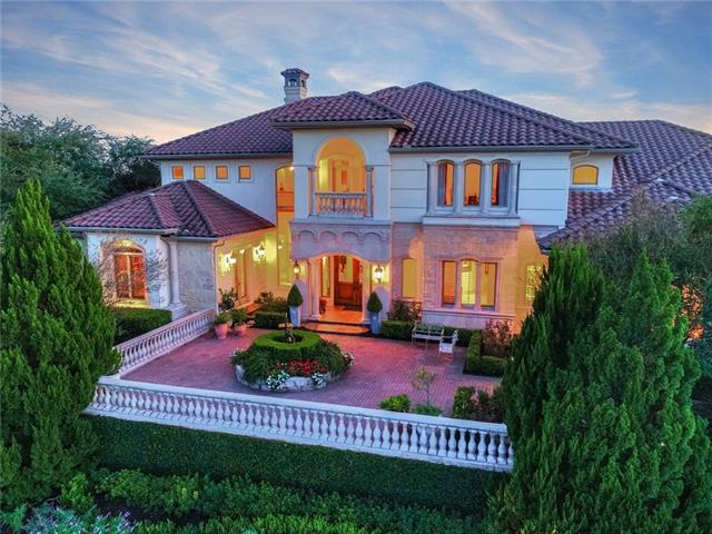 The ultimate Lake Austin waterfront estate w/views for miles up & down the lake.  Premium custom home w/features of marble, granite, cherry wood & mesquite floors, master suite w/sitting room & fireplace, master bath w/his & hers sides sharing only shower & tub, stately office/library, cooks kitchen, wine, exercise & game rooms, heated infinity pool with spa, outdoor cooking & dining, private dock & tram, High velocity A/C with radiant heat & manifold plumbing system, private guest room on main level.