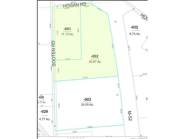 Parcel for Commercial and/or Industrial use.  When the property was rezoned at the request of the owner in 2007, the Village of Manchester indicated that the entire parcel could be either Lt. Industrial or Commercial. .