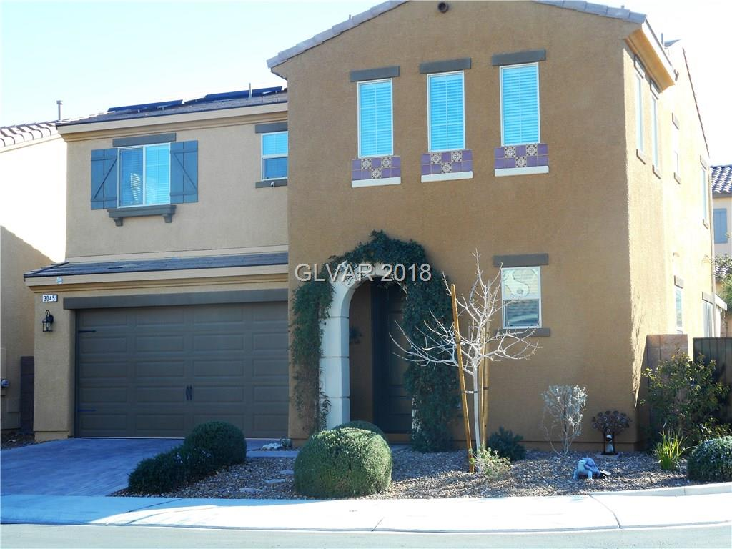 Located in Inspirada, this wonderful 2 year old home is highly upgraded and located on a corner lot in cul de sac. Kitchen features stainless steel appliances, large island and custom cabinets with tons of storage. Custom fitted master closet. Sink added to laundry room. Internet wired in all rooms.This home is professionally landscaped and Solar panels on roof provide low summer energy costs. HOA fee includes parks, rec center & 4 pools.