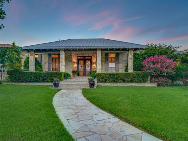 "Early Texas Hill Country design. Built by the owners' son, the main single story features two bedrooms. A detached guest casita offers incredible flexibility. Seller is an artist and used it as a studio, now the possibilities are limitless; third bedroom, office, media room or workshop. Beautiful covered patio with show stopping courtyard and the pool perfectly blends into the environment. Private gated ""Water Front"" subdivision."
