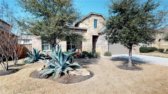 Stunning 1 story 3BR/21/2BA home w/amazing curb appeal.  Open concept great room makes entertaining a pleasure.  This home boasts some hidden treasures, a formal dining room, a den/office & a study nook that opens to main space.  The private master suite includes a luxurious master bath & lots of natural light.  Texas sized patio gives the back yard an entertaining space all its own.  Tennis courts diagonal from home one of the many amenities that make this a come see!