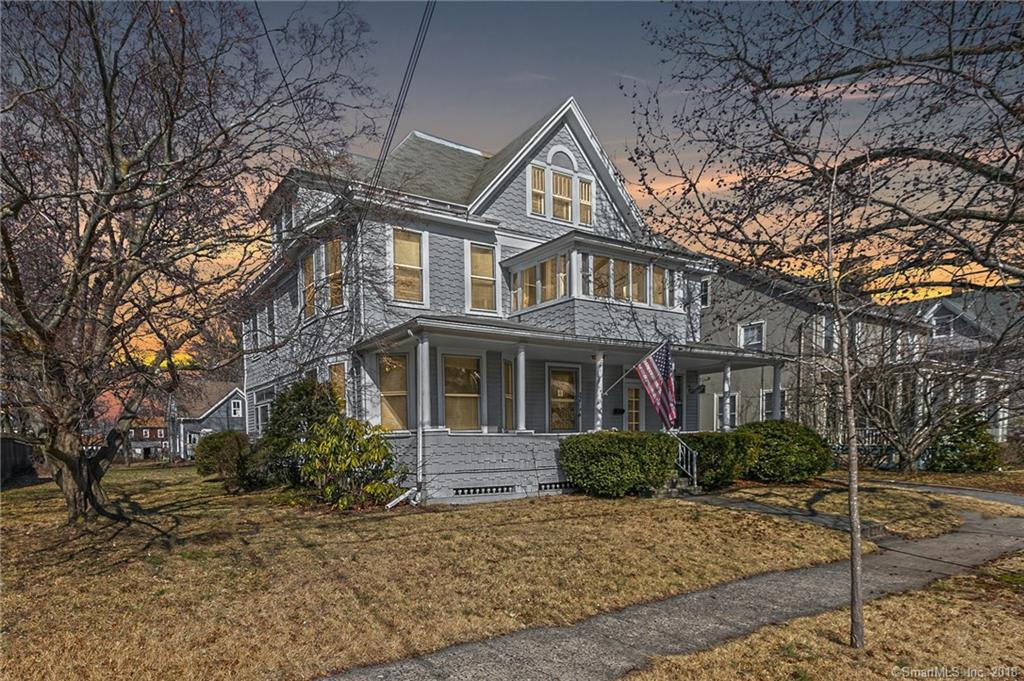 IN THE HEART OF STRATFORD'S HISTORIC DISTRICT, JUST .4 MILES FROM THE TRAIN STATION, SITS THIS 3,518 SFT HOUSE ON A PICTURESQUE .53 ACRE LOT.   THIS HOUSE IS RESIDENTIALLY ZONED, BUT YOU CAN USE 25% OF THE SPACE FOR OFFICE: PERFECT FOR A DOCTOR, ATTORNEY, REAL ESTATE AGENT, HAIRDRESSER (OWNER MUST OCCUPY).  COMPLETE WITH A HUGE BARN WITH A LOFT.   CALL TODAY FOR A PRIVATE SHOWING AND MORE DETAILS.