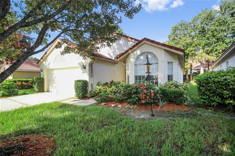 YOU DESERVE to settle down into a low maintenance lifestyle and just enjoy your surroundings. This Mediterranean style home combines comfort and close proximity to everything you need.  The HOA maintains your yard ensuring ample time to take in a variety of activities that the Tuscawilla Community offers such as public parks, tennis courts, racquet ball courts, basketball courts, sports fields, tot lots, nature trails, jogging trails and Seminole County's desirable schools.  The expansive open layout flows effortlessly from one room to another for easy living and entertaining. The split plan provides for a private spacious master suite with a large sitting area, and vaulted ceilings. The eat-in kitchen is open to the formal area with abundant windows for plenty of natural light. Large Florida room extends the living space or gather with friends on the open patio or just kick back in glorious solitude right in your own backyard with a view a peaceful pond.