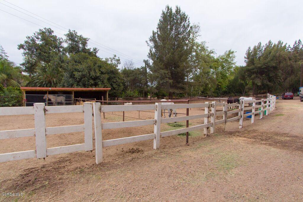 Welcome to a perfect opportunity to own this Beautiful Agricultural, Equestrian gated Facility nestled on 20 acres in beautiful, prestigious Solano Verde, Somis, California. Spectacular panoramic mountains, ocean&valleys views. Ideal to build your custom dream home! Property facilitates horse training with plenty of newly constructed covered barn/stalls with ample arenas for horse riding. the Ideal topography & Mediterranean whether nourishes the ranch orchard of more than a 1000 producing avocado plants, this property has endless potential to expand the orchard. Plus surrounded by a professionally, very-well kept green area, perfect setting for your family gatherings, you'll find a remodeled single home 3beds/1Bath accentuating the privacy.