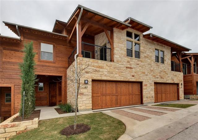 One of the last three bedroom available new builds in the award winning modern condo community of the Hillside. This unit is in the highest building on the boundary with fenced yard backing to Balcones Canyonland Preserve. Scheduled for completion in June. Three bedrooms plus study, with two outdoor spaces and large two car garage. Vaulted 14' ceilings, dual Nest thermostats, Dacor appliances (incl gas cooktop), 8' doors and contemporary finishes. Open House in nearby model Sundays 1 - 4 pm.