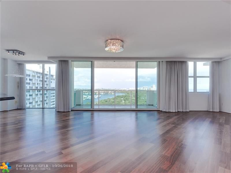 Best Value in the Fort Lauderdale Beach Area ($372 sf) at the Prestigious Le Club International Condo. Large Luxury Condo-2,630 SF - High Floor (14th) Spectacular Ocean/IntraCoastal Views from Every Room. Gorgeous Brazilian Cherry /Mahogany Real Wood Floors Throughout . Contemporary Loft Style Open Floor Plan with Oversize Master Bedroom and Living Room Area. Modern Open Kitchen with Granite Counter Tops. NE Corner Unit. Walk to Fort Lauderdale Beach or Galleria Mall ! Dock Available for Boats 60' to 100' - Pet Friendly- 2 Covered Parking Spaces included-Must See .