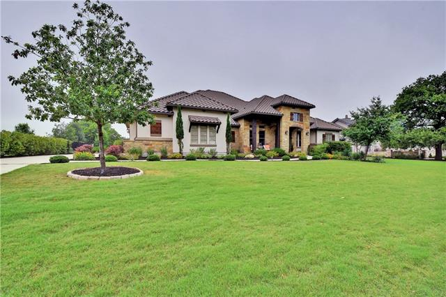 """Estate home with hill country & golf course views. This home has been professionally decorated by HGTV's """"Design Star"""" Tera Hampton. 4 beds/4.5 baths, beautiful master suite, butler's pantry, dog shower, and study. Upstairs game-room plus entertainment/media room down. Extended covered patio, built-in outdoor grill & fridge. Live on an award-winning Jack Nicklaus Signature Golf Course. Amazing amenities beyond a great course with fine dining, spa facilities, tennis, swimming, fitness, & more."""