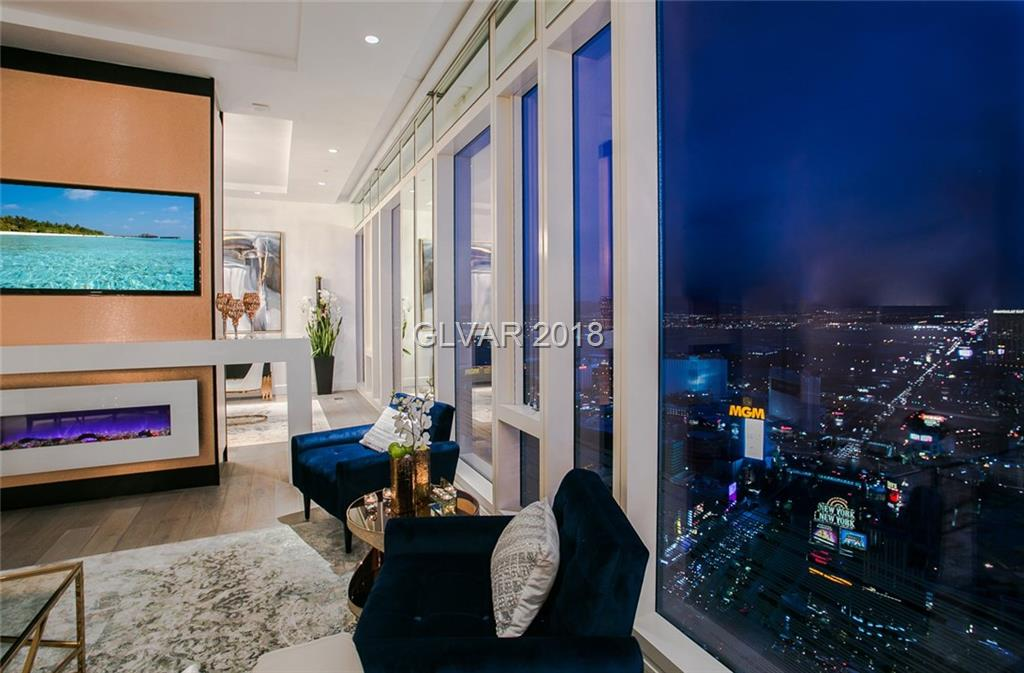 A magnificent fully furnished luxury penthouse located in the heart of Las VEGAS - City Center. Turn key world-class residence features two master bedroom suites, living and dining rooms overlooking the Las Vegas strip. Enjoy your privacy and white-glove concierge services or a short walk to Aria, Crystals, Cosmopolitan and the T-Mobile Arena, dining, shopping & entertainment at your fingertips. Schedule showing with Yelena Brezhneva