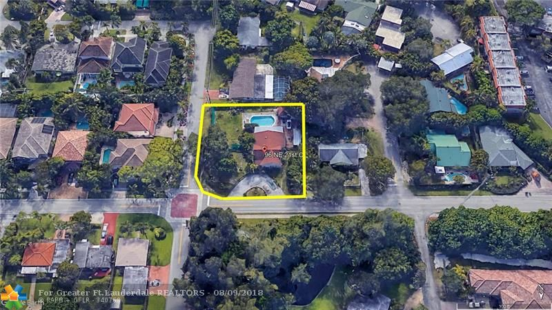 Amazing Opportunity in the Heart of Wilton Manors! Excellent location with many homes being rebuilt. The house sits on an oversized corner lot that is 125 by 125 with area totaling 15,268 sq ft. This property features a large pool, paver brick patio, Tiki hut, work shed and a circular driveway for plenty of parking. Fenced backyard with many fruit trees. Located on the most prestigious street in Wilton Manors, across from Lazy Lake and walking distance to Wilton Drive. Convenient to shopping and dining with easy access to I-95. Huge Potential!