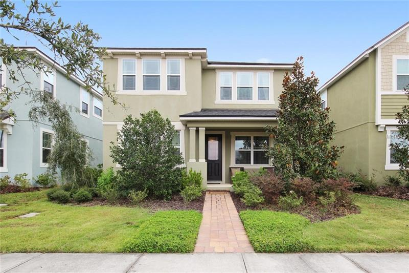 Everything you need to live & play! Desirable Randal Park at Lake Nona offers a new level of stylish living in one of the newest and most exciting parts of Orlando.  Convenient to the 417 & 528 for easy access to all Orlando has to offer.  This beautiful tranquil neighborhood offers walking paths, dog park, Olympic size pool, splash pad, fitness center, clubhouse with pond view and more.  Fall in love with this like- new 2 story home: **DREAM KITCHEN SHOWCASES CENTER ISLAND, QUARTZ COUNTER TOPS, STAINLESS STEEL APPLIANCES, ESPRESSO CABINETS AND A SPACIOUS EAT-IN DINING AREA.** Versatile great room plan has plentiful natural light from the abundant windows and boasts BEAUTIFUL BAMBOO HAND SCRAPED WOOD FLOOR plus a main floor guest room/office/den/playroom.  The upper level features a spacious loft for additional living space.  The second-floor split plan allows you to retreat to your private master suite and enjoy the serene view.  The master walk-in closet is a dream with an**upgraded custom closet system** along with two additional bedrooms with upgraded closet systems.  The front porch will quickly become your favorite place to watch the sunset!  More than a community, this neighborhood is filled with exclusive community events from pizza night to wine & cheese.  Why wait to build when this gorgeous move-in ready home is available now?