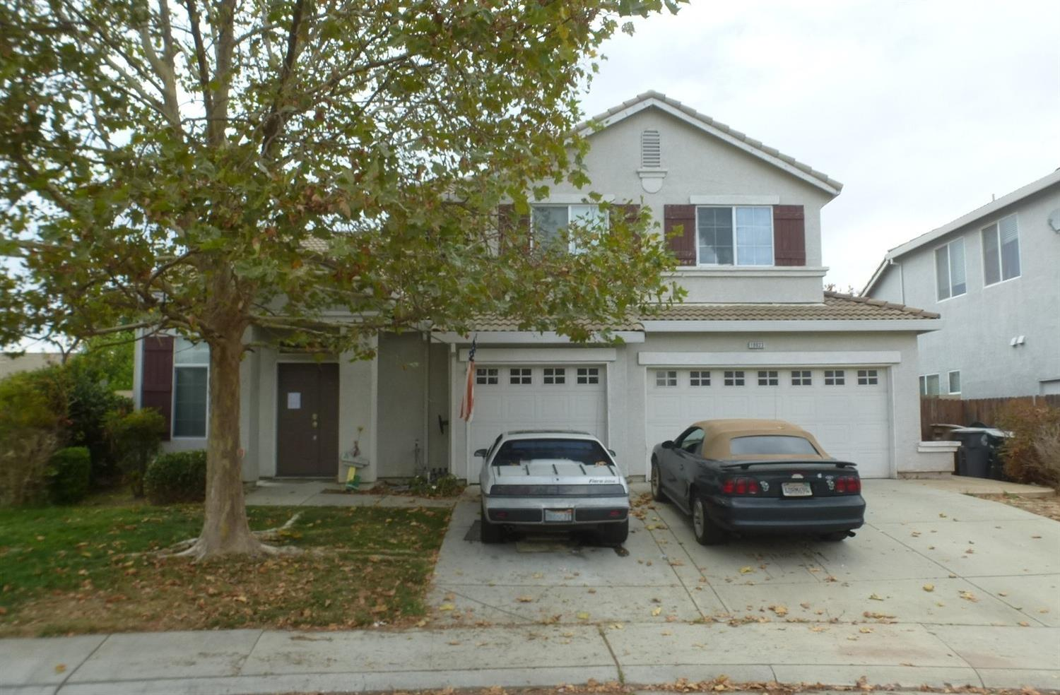 A great opportunity to own in the Laguna Creek S Village. Spacious 4 bedroom, 2.5 baths with master bedroom/bath on ground level!  A great floor plan with Separate formal living/dining room, kithchen with island that opens up to family room with fireplace.   Generous sized backyard with full grown citrus tree storage shed.  Upstairs has remaining bedrooms with bonus room/loft with built ins. Help bring this home back to its formal glory!