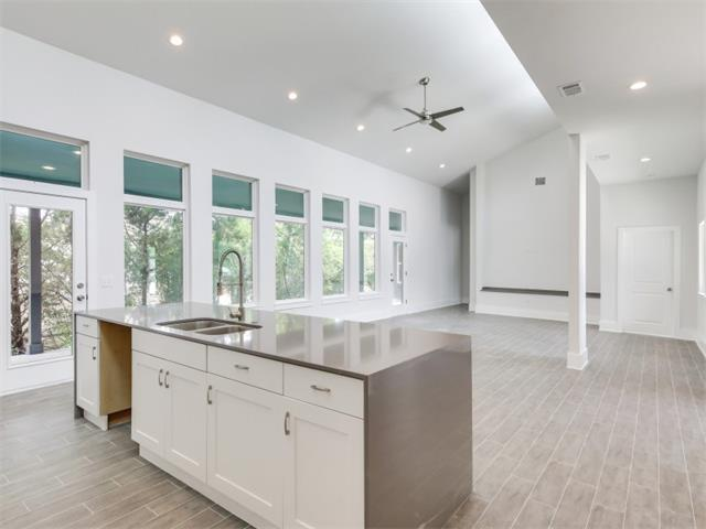 Great opportunity to own a new modern home tucked away on a cul-de-sac lot in charming Old Lakeway.  Low maintenance one-story with bright and open floor plan and lots of natural light.  Clean and contemporary finishes throughout. Nothing else like this!