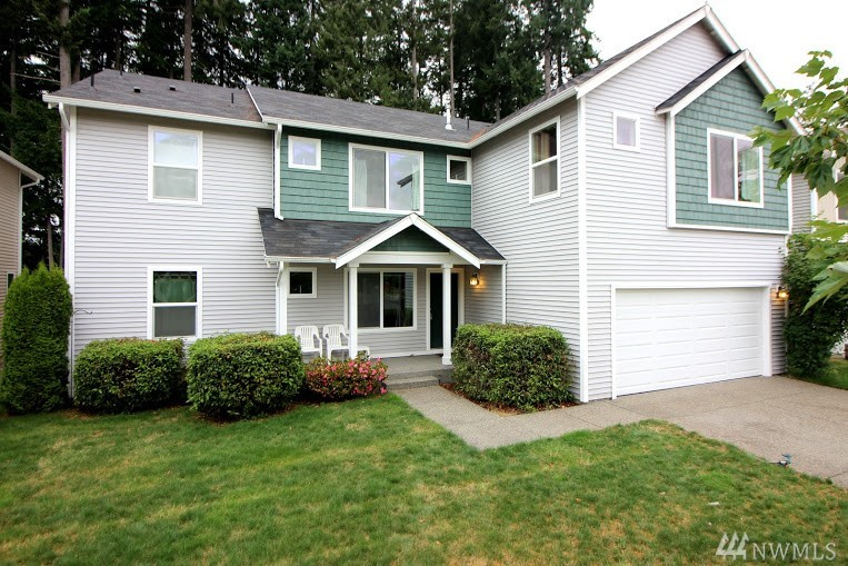 Spacious, versatile 2 story home backs to greenbelt w/filtered lake view; direct access to lake across greenbelt. Bright open floor plan w/large kitchen, family room w/gas fireplace, formal and informal dining spaces; main floor bonus room. Upstairs are generous bedrooms, laundry, den and rec room. Partially fenced backyard is quiet and private. Neighborhood has wide streets, sidewalks, tot lots and boat launch. Tumwater schools; and quick commute to I-5.