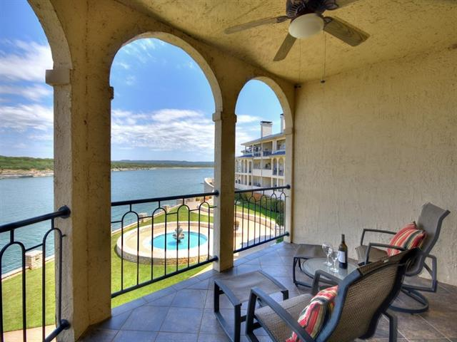 This 2 bedroom, 2 full bath condo with stunning views of Austin's premier Lake Travis will not disappoint. Enjoy all the Island at Lake Travis community has to offer which includes 2 outdoor pools w/hot tubs, 1 indoor pool w/hot tub, fitness center, salon/spa, day dock, boat ramp, picnic/grilling areas, and lighted tennis courts. Savor the condo for yourself or take advantage of the short term rental option...proven favorite among visitors! Bonus:26' boat slip and all furniture included!
