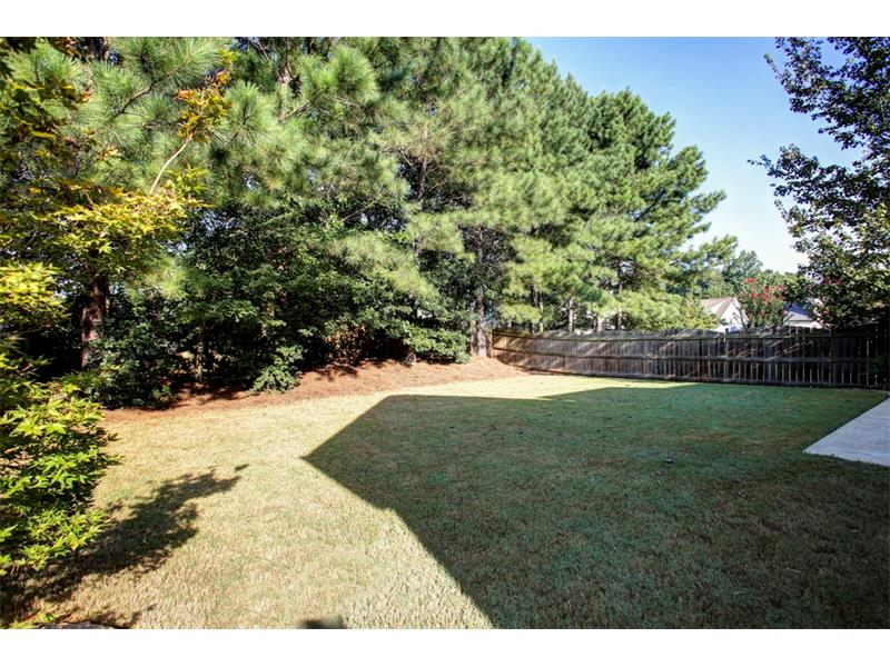 As you can see the wooded areas around the fence line provide a very private back yard setting.