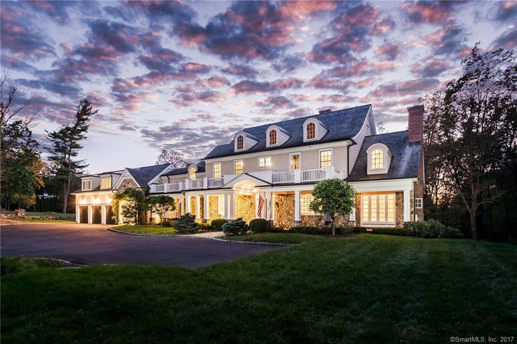 As you drive down the long driveway through the stone columns, you have arrived at 2575 North Street, offering privacy in prestigious Greenfield Hill. Once inside, this colonial continues to impress the most discerning buyers offering well designed space and exceptional millwork. There are five en-suite bedrooms and seven baths. Perfect for entertaining, the kitchen opens to the family room with vaulted ceiling and huge stone fireplace. All of the room's windows overlook the tranquil, lush setting of more than five acres. Quite simply a once in lifetime opportunity at an amazing price per sqft.