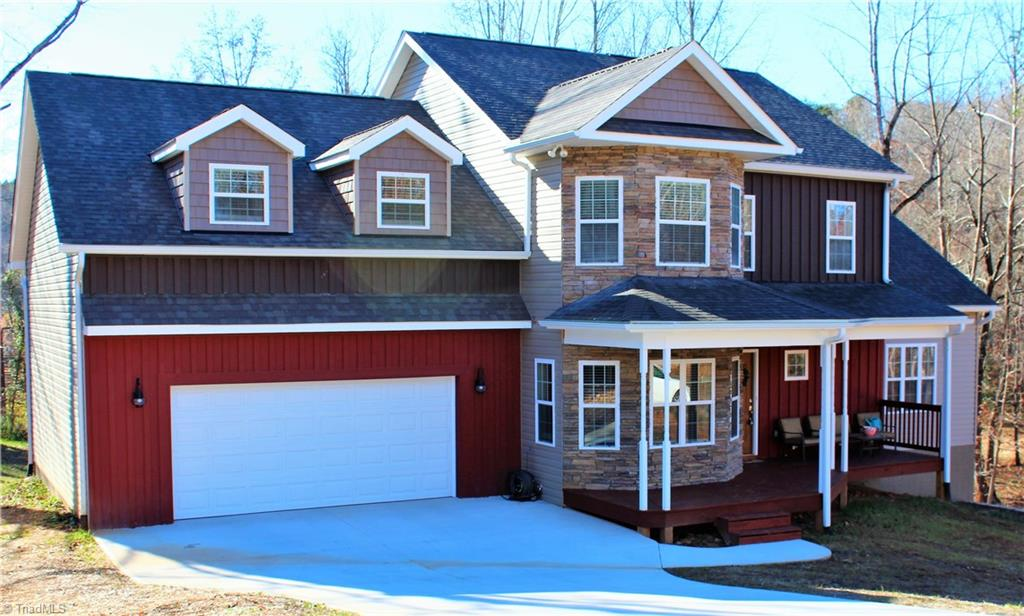 Extremely nice home in established neighborhood in King. NEW Construction 2017! Being sold less than $349k tax value due to Sellers moving. Home is very spacious with a lot of amenities, kitchen and bathrooms have granite counter tops and tile floors, Master has trey ceiling & barn style door to br with tile shower. Living room has rock fireplace with tv mount and gas logs. Master is on the main,other bedrooms and very large bonus room on 2nd level. Home is close to 3k sq ft and has unfinished basement!