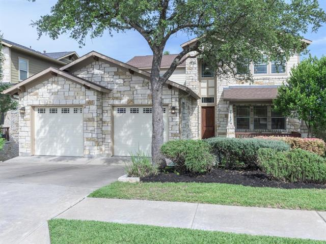Exquisite former model home, minutes to Twin Creeks Golf Course! This amazing property backs up to greenbelt & offers spectacular views from multiple levels. Home boasts; New carpet & paint, raised ceilings, abundance of windows & natural light, expansive living room that opens to kitchen & dining area, office, upstairs game room, & luxurious master suite w/balcony access. **WALKOUT BASEMENT has full bed/bath/living & back patio. Infinite arrangement options & ample room to spread out, relax, & entertain!