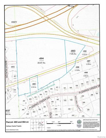 NEW PRICE!!  TWO CONTIGUOUS PARCELS INCLUDED IN THIS LISTING: J0108400004 (39.87 acres) & J01008400003 (7.05 acres) A TOTAL OF 46.95 ACRES THAT ARE PERFECT FOR DEVELOPMENT W/EASY ACCESS TO M-14 & FORD RD. UNIQUE POSITION WITH THE ABILITY TO SERVE WASHTENAW AND WAYNE COUNTY WELL, BEING LOCATED BETWEEN FORD RD AND DIXBORO. THIS SITE IS KNOWN AS THE DOUGLASS-NANRY-DAVIDS, A HISTORIC HOUSE BUILT BACK ABOUT 1858. IT REMAINS ON THE PROPERTY AND IS BEING SOLD AS-IS.  ANY LOCAL OR STATE REQUIREMENTS ON WELL AND SEPIC SYSTEMS ARE THE REPONSIBILITY OF THE PURCHASERS.  NEW DEVELOPEMENT NEXT TO THIS ONE, GREAT OPPORTUNITY AND SUPER LOCATION.