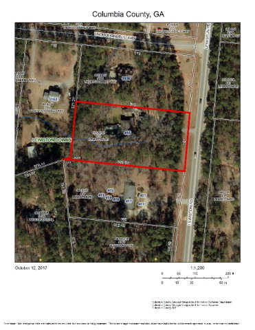 ATTENTION DEVELOPERS/ INVESTORS: Prime location less than 300 feet from the NEW Kroger Marketplace in Grovetown, Georgia. 1.71 Acres with 4 bedroom home. Currently Zoned Residential. Buyers would be responsible for rezoning application with Columbia County. Being sold AS IS. Great opportunity for a new business in the fastest growing area of Columbia County. Call for more Information.