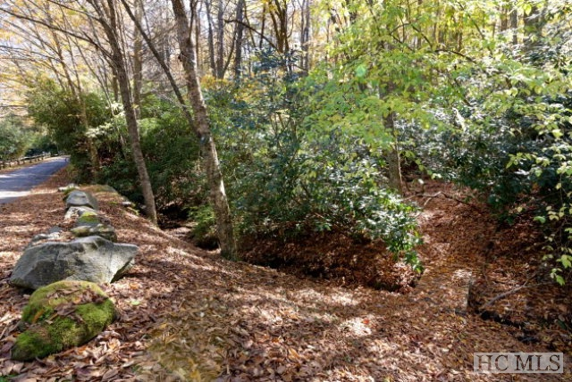 Beautiful building lot situated on one of Highlands' most popular, walk-to-town quiet lanes. Paved, easy access and adjoins the Bascom Campus (you are just a few steps from the Bascom's Sculpture Trail that leads from Oak Lane to the Bascom's main building). Tuck your home amongst the trees for privacy, while enjoying proximity to all of Highlands' Main Street offerings.
