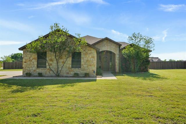 Hill Country living at its best. Custom 1 story home on 1 acre, corner lot in highly sought after Liberty Hill ISD. Perfect home for entertaining with this open floor plan and extended patio. Dream master bath with huge walk through shower and jetted tub ready to soak your troubles away. Plenty of space in this 3 car garage for a workshop or extra vehicles. Please give at least 1 hour notice to agent when scheduling showings.