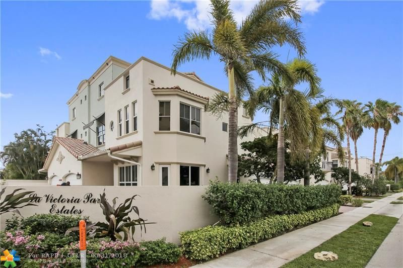 Welcome to Victoria Park! Gorgeous townhome in Fort Lauderdale's most sought after neighborhood. Walk into a well-laid out, open living space overlooking serene courtyard area.  Modern kitchen with granite countertops & stainless steel appliances.  Oversized master bedroom & junior master suite both with ample walk-in closet space.  Breathtaking 3rd floor terrace ideal for entertainment features cityscape & neighborhood views. Ideal location within minutes of the Galleria mall and Fort Lauderdale Beach