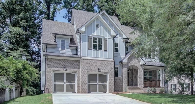 Stunning new construction in Ashford Park! Chef's kitchen feat s/s apps,stone countertops,oversized island w/ b'fast bar,& subway tile backsplash. Open flr plan includes fam rm w/ built-ins & FP as well as din rm perfect for entertaining. Study/bdrm w/ full bath on main. Master a true retreat including trey ceiling,huge walk-in closet,& spa-like bath w/ dble vanity,soaking tub,& sep shower. Add'l bdrms well-sized & bright w/ attached baths. Laundry up! 2 car garage! Lg deck ideal for outdoor enjoyment & entertaining.Great location close to all your fav B'haven hotspots!