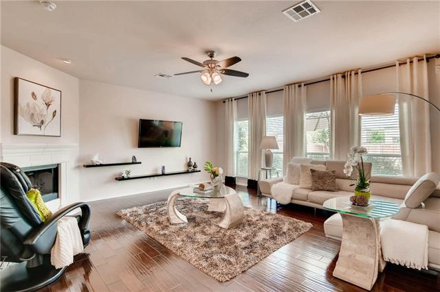 IMMACULATE 4 bed 2.5 bath craftsman near cul-de-sac. Home boasts 2,940 SF, lovely foyer, & spacious study! Upgraded ½ bath; expansive & bright living room, corner fireplace & rich wood floors. Granite counters, center island, & stainless appliances in kitchen. Spacious master bed with spa en-suite bath, extra-large walk-in closet. 3  guest rooms & beautiful guest bath. 2nd living room, perfect for movie night! Enjoy sunsets from a covered patio with manicured backyard & zoned sprinkler system. A must see!