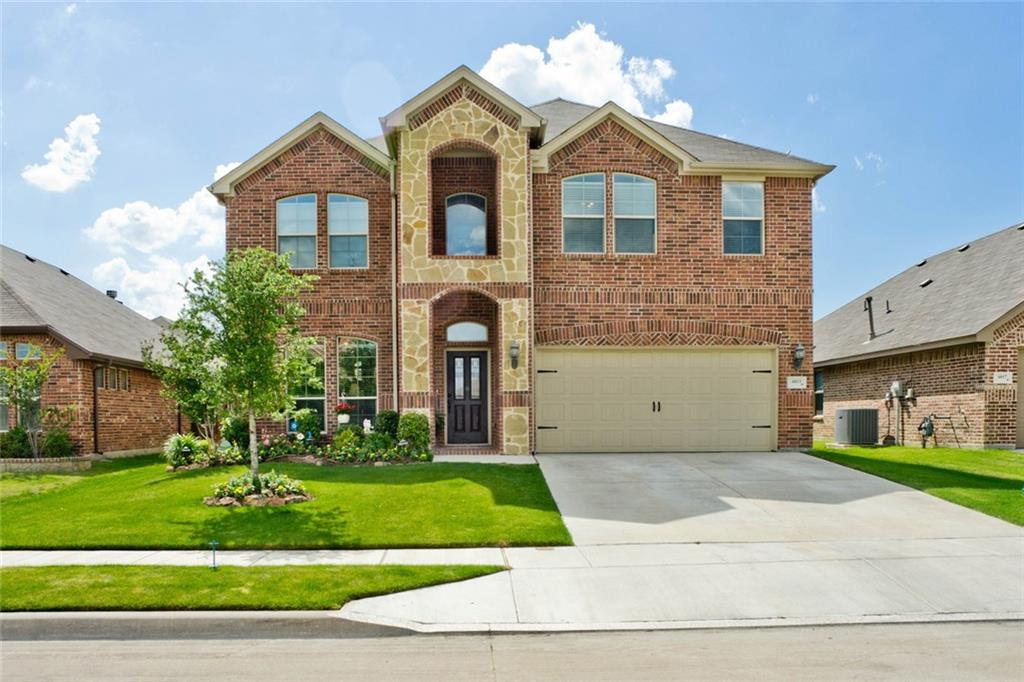 OPEN HOUSE SUNDAY 5-27-18, 2-4PM. BEAUTIFUL home in Marine Creek Ranch! 4 bed + 2.5 bath + 2 Living + Formal Dining. Open and Spacious Floor plan that boasts many upgrades including granite, knotty alder cabinets, SS appliances, gas stove, island, wood floors, floor to ceiling stone WBFP, wrought iron railing on stairs, tile in wet areas, extended flagstone patio, enormous separate utility with custom cabinets, built in study-desk area off game room + so much more! Downstairs master with large walk in closet, his-her sink, oversized shower, garden tub. HOA amenities include clubhouse, pool, private lake area + dock, and jogging-biking trails. Eagle Mtn Sag ISD- Greenfield, Ed Willkie, Chisholm Trail.