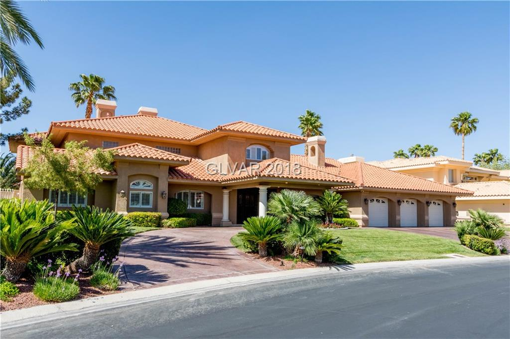 OPPORTUNITY AWAITS!! GORGEOUS CUSTOM HOME IN SPANISH TRAILS LOCATED ON THE CANYON 9 GOLF COURSE, HOLE 4. WALK INTO A GRAND ENTRANCE WITH A STUNNING CURVED STAIRCASE HIGHLIGHTING THE VAULTED CEILINGS & OPENS TO THE LIVING ROOM & LEADS OUT TO THE BACKYARD SPARKLING POOL/SPA W/WATERFALL! KITCHEN BOASTS CUSTOM CABINETS, TRAVERTINE FLOORS, GRANITE COUNTERS, & ISLAND. FALL IN LOVE W/DUAL MSTRS 1 UP & 1 DWN, WINE CLOSET, & CIRCULAR DRIVEWAY! MUST SEE!!