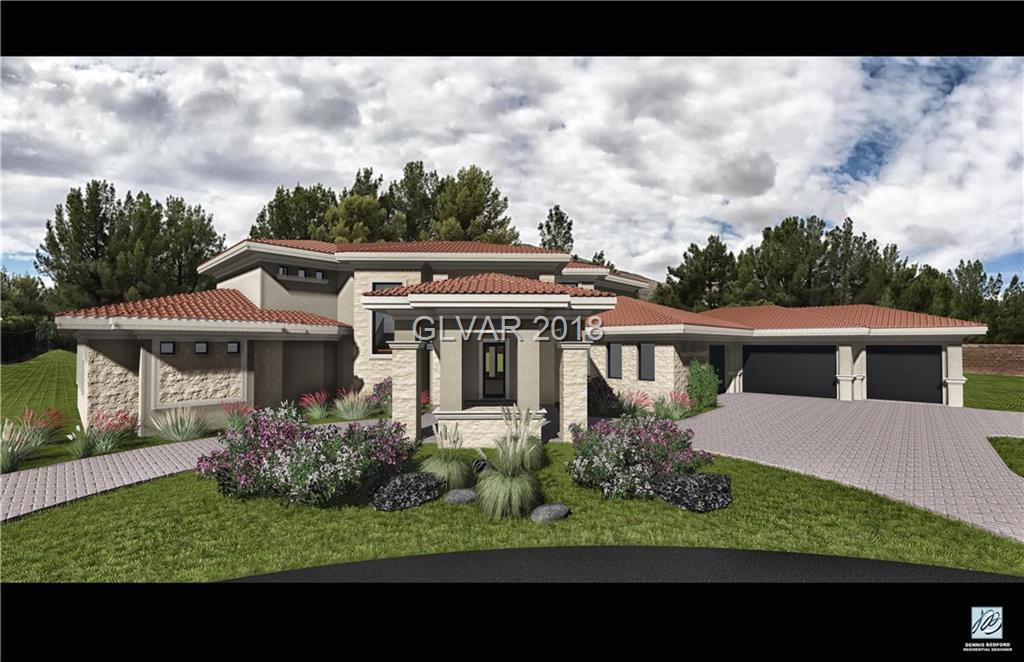 THIS CUSTOM HOME HAS NOT BROKEN GROUND/OUR GOAL IS TO BREAK GROUND MAY 1st, 2018..6750 sq ft of living area, 5 car garage.. Golf Course Frontage Lot..2 master bedrooms, one on each floor with elevator.....A Wellness Center with Steam and Sauna Rooms..Southern Highlands CC/Vintage Valley..The Home of the NEW Professional Athletes OF Las Vegas.......75% of the Living Area is on the first floor, with a Beautiful Soft Contemporary 2 Story Elevations