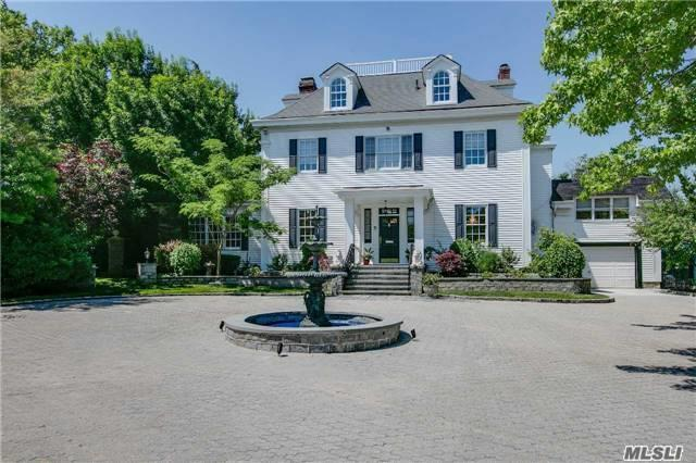 Bayside Gables.5Br, 4Ba, Colonial On 19K Sq.Ft Lot ,Pvt,Gated Cmmnty W/Pvt Security,Cul-De-Sac,Pool,Pond,Fountains, Grand Foyer& Staircase,Banquet Dining, Formal Parlors, Solarium W/Oak Coffered Ceilings,6 W/B Fireplaces,8 Skylights. Sun Drenched Great Rm Off Custom Kitchen,Pwdr Rm.48Ft.Studio,Mud Rm.Upstairs 2 Levels Of 5Bed 3Bath, Mb/Suite W/Dr/Rm. & W/I-Closets.