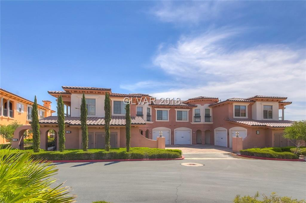 Luxury condo with breathtaking full lake and golf course views.  Highly desired one story 3 bedroom unit with expansive balconies for enjoying the Lake Las Vegas lifestyle. Stainless appliances, wine refrigerator, laundry room and den in a spacious floorplan. This community offers a clubhouse with multiple pools and gym. This unit is in impeccable condition. Seller wishes to negotiate price for furniture outside of escrow.