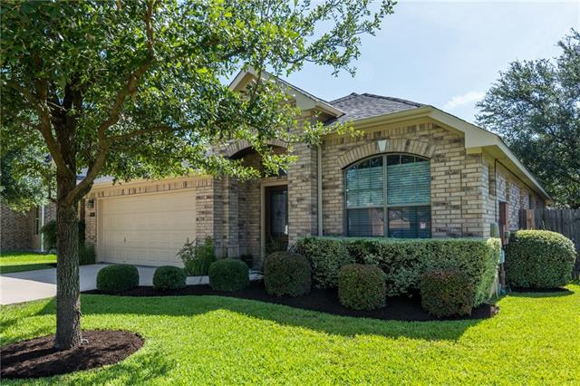 1.5 story home in the heart of the Ranch at Brushy Creek.  Ready for move in, 3 bedrooms, office, formal dining/living, 2.5 car garage. Bonus room upstairs, open floor plan. Covered patio, sprinkler system front and back.  RRISD, bus stop three houses down, walking distance to community pool and trails.