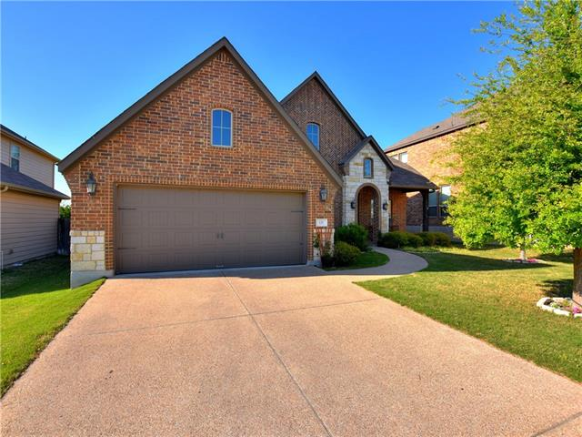 "This beautiful 4 bedroom, 2 1/2 bath home will melt your heart! Many peaceful mornings and evenings can be spent on the back covered patio that backs up to a Greenbelt. The home boasts many upgrades like 20"" tile, baseboards, crown molding, Knotty Alder cabinets, kitchen island, granite counter tops in kitchen, stainless steel appliances, furniture vanity in master, sprinkler system, security system...too many to list! Go see this for yourself!"