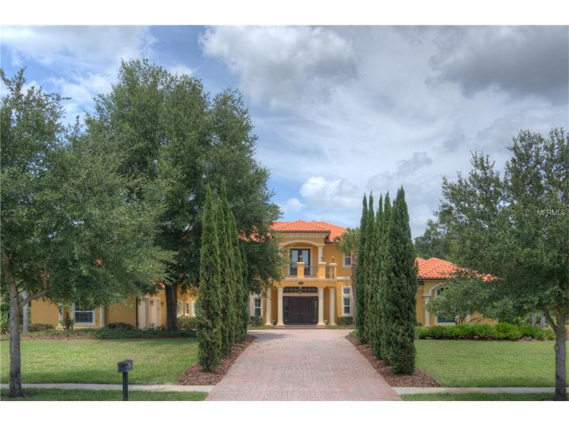 Corporate Lease, 6 month or 4-8 month lease available. Magnificent Luxury Estate on a lushly landscaped one acre lot in sought after gated Sanctuary on Livingston! Impeccably maintained, this custom built masterpiece features 5 Bedrooms, 5.5 Bathrooms, Office, Home Theater Room, and oversized Loft. Large 5th Bedroom would also be a perfect BONUS ROOM. Luxury abounds, with Brazilian Cherry floors, 7 ¼ inch baseboards, Crown Molding, Tray Ceilings, and Plantation Shutters and Double Pane windows throughout home. Kitchen will please the most discriminating buyer, Subzero Refrigerator,Wolf Six Burner Range, Generous Walk-in Pantry, exquisite Granite Countertops, oversized breakfast bar, large eat in area, overlooking spacious family room featuring soaring ceilings and dramatic fireplace. Entertain in style with an unequalled outdoor pool area, complete with outdoor kitchen, large covered sitting area, oversized pool and spa. Downstairs features a Magnificent Master Suite, Office, and Guest Bedroom. Upstairs features 3 additional bedrooms, Home Theater Room, Loft with Wet Bar, gorgeous Tray Ceilings, and both a front and rear balcony, with expansive rear balcony overlooking the pool area with pool bath. Entire home is CAT 5 wired. The Sanctuary on Livingston is a non CDD luxury gated community featuring custom homes on 1+ acre lots, ideally located for easy access to interstates, hospitals, airport, downtown Tampa, upscale shopping at the Tampa Premium Outlets, Wiregrass, vibrant restaurants & Ice Complex!