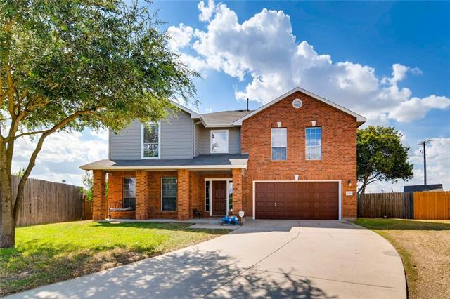 Mix up delicious desserts on the convenient kitchen island in this well-maintained 2-story 4-bedroom/2.5-bath home on .22 acres in Hutto. You will not need to rush, as this home is a short drive to the local schools and the toll road. Features include a classic dining room, impressive living room with laminate floors, huge master suite with walk-in closet for lots of clothes. The 10' x 10' and 8' x 8' storage sheds convey with the property!