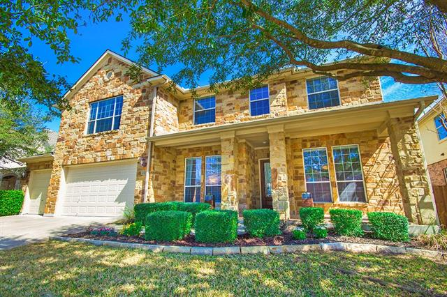 Magnificent cul-de-sac home features built-in storage and shelving upstairs and down, lots of windows for natural light and crown molding! Huge kitchen with granite counters, double oven and gas cook-top overlooks main living area. Formal living and dining upon entering the foyer. One bedroom on main level currently being used as an office, 4 additional bedrooms upstairs. Huge bonus room upstairs, gorgeous master en suite and large secondary bedrooms! Beautiful yards and exemplary schools! New HVAC units.