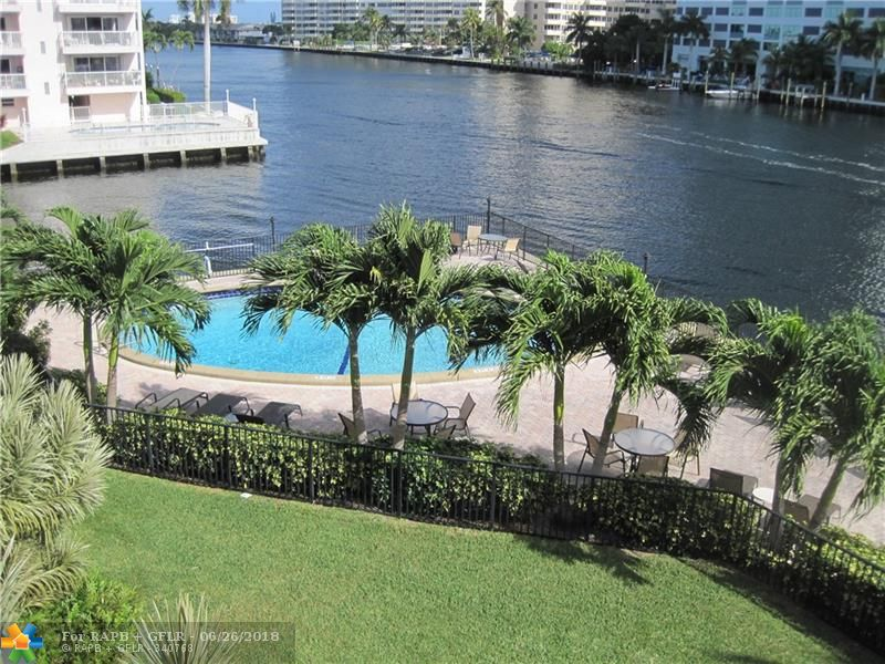 Your chance to own a Waterfront get-a-way or investment property in the sought after Waterside on the Intracoastal. Unit open modern and updated Gourmet Kitchen offers Center island, Expresso Wood cabinetry, Stainless appliances, Impact windows & doors. Walk to Beach Shopping Restaurants, Water taxi. Pool Directly on Intracoastal, Dock space avail for rent for up to 42' vessel. Bldg passed 40 yr inspection, newly paved and  painted, remodeled lobby makes this unit a must see.