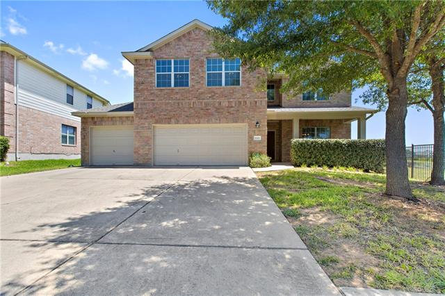 5 bedroom home with 3 car garage located at the end of a cul de sac in Morningside at Avery Ranch. Zoned for Round Rock ISD...England Elementary and Pearson Ranch MS. Master suite downstairs...4 bedrooms including a private in law suite plus spacious game room upstairs. Kitchen opens to the living room and formal dining room and features granite countertops, stainless steel appliances and huge walk in pantry. Covered patio out back with a ceiling fan and extended deck to enjoy the oversized yard.