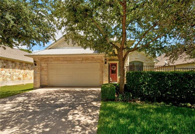 Sophisticated 3BD/3BA single story garden home in the desirable twin creeks golf community on a quiet street. This contemporary open floor plan invites interactive family living & entertaining, crowned w/soaring ceilings. The huge kitchen perfects culinary convenience w/stainless appliances, gas range & prep island. A private office, tons of storage & idyllic low maintenance yard round out the remarkable features of this stunning home mere steps to the pool, clubhouse & private golf course!