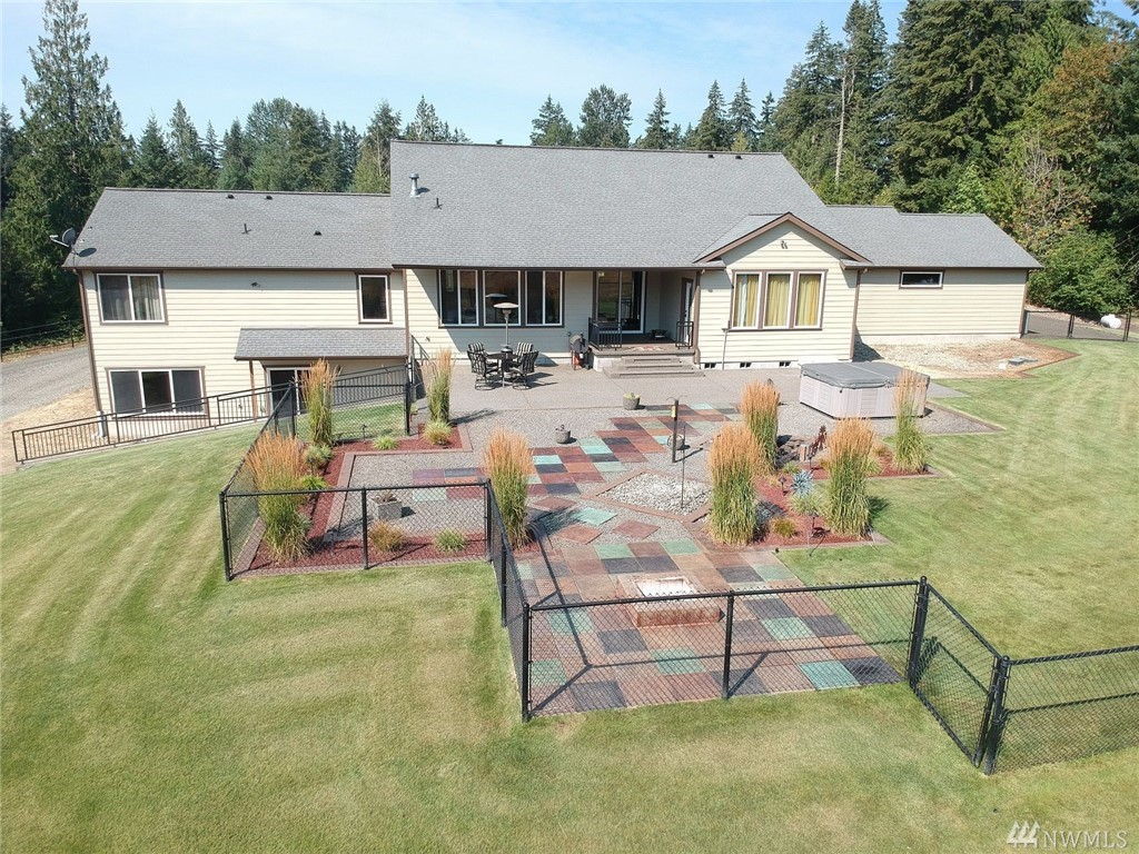 25 Min to JBLM, 20 min to Lacey, 5 min to Yelm, 5 min to Tenino, 22 min to Centralia. Finished basement with separate living quarters inc. kitchen, dining, living,stackable washer/dryer hook up. ADU can be mother in law unit or rental? 10 acres, partially fenced. Back yard perfect for entertaining. Equestrian? Ready for indoor/outdoor arena? ATV lover dream? Wedding Venue? Huge shop with 16ft eves & 2-220 amp power. Separate RV dumping. Opportunities are endless!